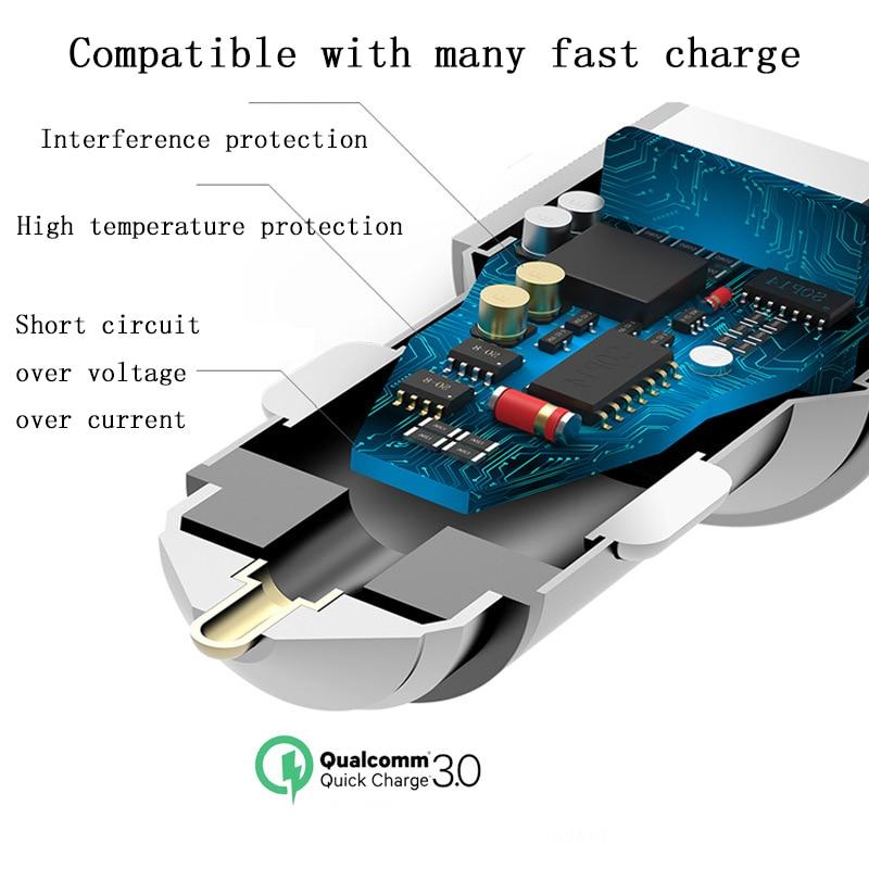 Cargador de coche USB dual Cargador rápido de aluminio universal - Accesorios y repuestos para celulares - foto 2