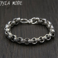 21cm Link Chain Bracelet 925 Sterling Silver 9 50mm Thickness 100 S925 Solid Thai Silver Men