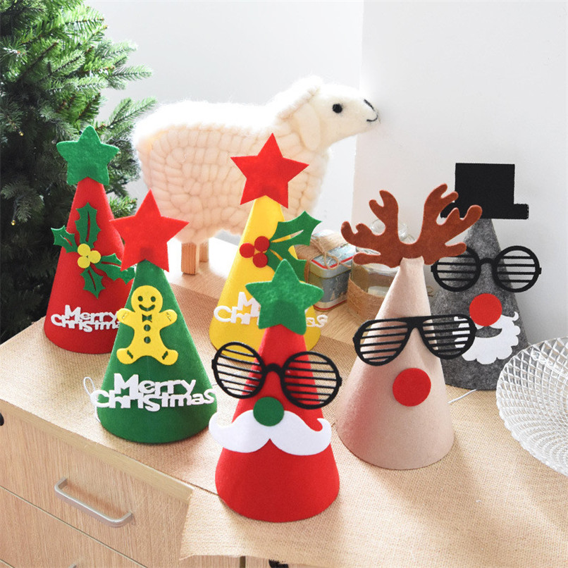 New Christmas Decorations Cartoon Children Christmas Hat