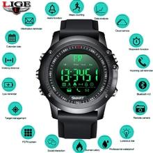LIGE Digital Bracelet Men Bluetooth Pedometer Stopwatch 50m depth waterproof  Electronics Watch Sport Smartwatch Reloj digital