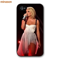 minason USA Carrie Underwood Cover case for iphone 4 4s 5 5s 5c 6 6s 7 8 plus samsung galaxy S5 S6 Note 2 3 4 D4072