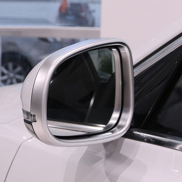 For Jaguar XE 2015-2017 XF/XFL 2011-2016 XJ/XJL 2010-2016 Chrome ABS Rearview Mirror Frame Cover Trim Car Accessories