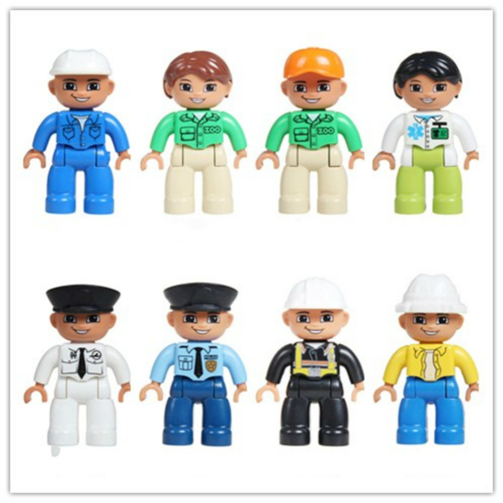 Family Members of The Family Building Blocks Parents Mama Siblings Big Pellets and Puppet Accessories Compatibility Kids DIY