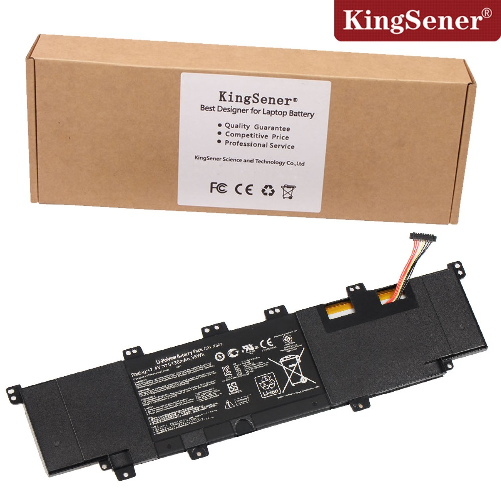 все цены на  Genuine Original New C21-X502 New Ultrabook Battery for ASUS VivoBook X502 X502C X502CA C21-X502 7.4V 5136mAh Super Quality  онлайн