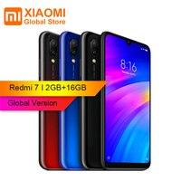 Глобальная версия Xiaomi Redmi 7 2 Гб ОЗУ 16 Гб ПЗУ Snapdragon 632 Восьмиядерный 4G мобильный телефон 6,26 дюйма 12 Мп + 2MP двойная задняя камера