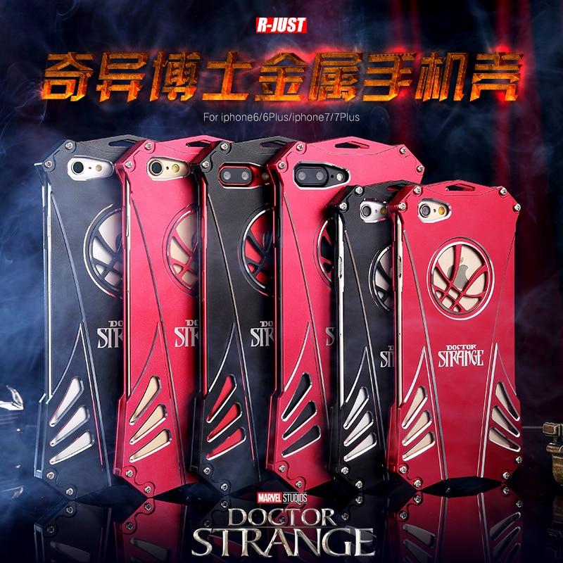 bilder für Arzt Seltsame Aluminium Rüstung Fall Für iPhone 7 6 6 S Plus fall Iron Man Abdeckung Phone Cases Covers Schutzhülle Haut Tasche
