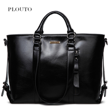 Plouto Luxury Women Large Leather Bags Handbag With Pockets Shoulder Bag Female Casual Tote For Elegent Lady Bolsas Feminina