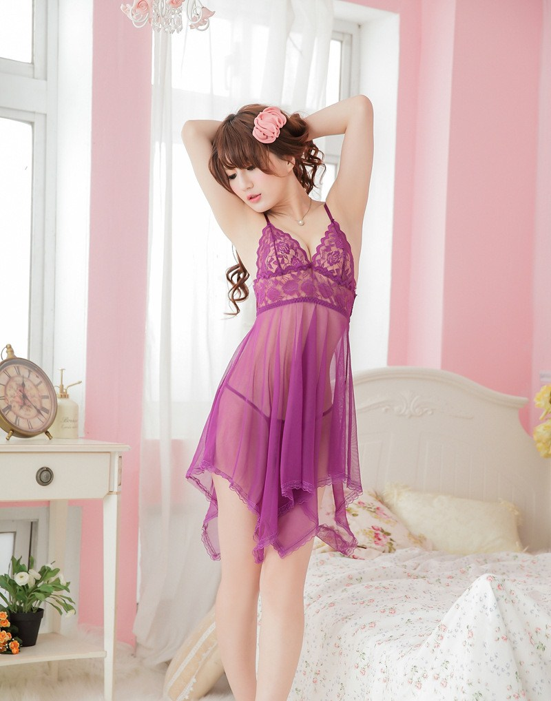 Jian Peng Sexy Lingerie Tracksuit Solid Women Underwear Lingerie Underwear Nightwear Lace Dress Babydoll Sleepwear Newest
