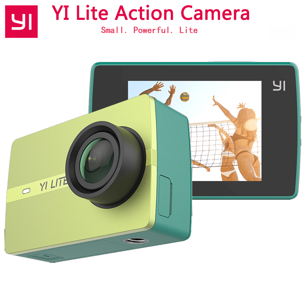 Original YI Lite Action Camera 16MP Real 4K Sports Camera with Built-in WIFI 2 Inch LCD Screen 150 Degree Wide Angle Lens цена