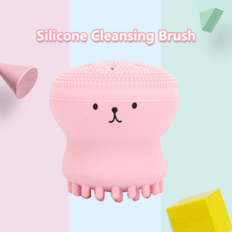 Face Cleaning Brush Sponge 4 Colors Silica Gel Massage Clean Beauty Skin Face Cleaner Men