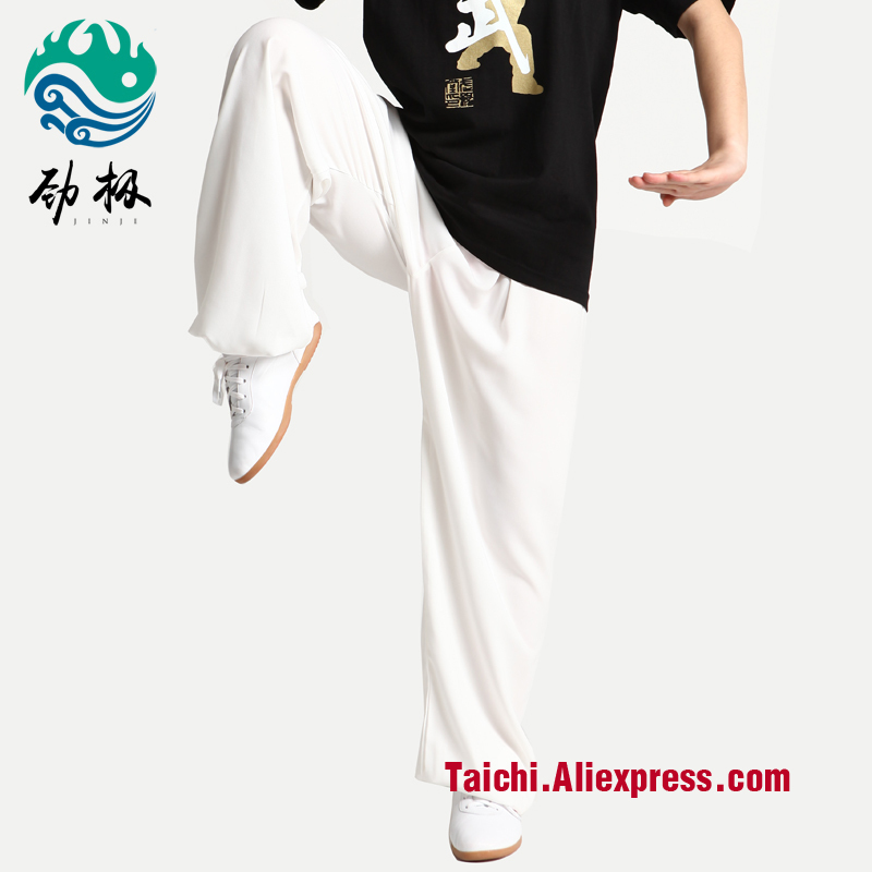 Strong Tai Chi  Pants Martial Art Clothes White Black Red Blue Free Shipping