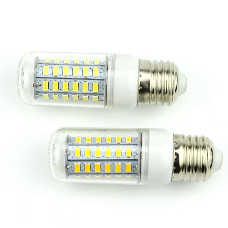 1Pc E27 E14 LED Corn Bulb 220V 110V SMD5730 LED lamp Spotlight 24LED 36LEDs 48LEDs 56LEDs 69LEDs For light vbs real wattage 25w 35w 45w led lamp corn bulb 110v 220v e27 aluminum fan cooling 5730 smd led spot light corn light bulb
