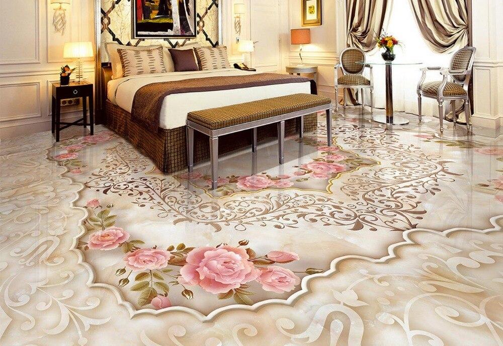 Photo floor wallpaper 3d stereoscopic stone marble floor for 3d marble wallpaper