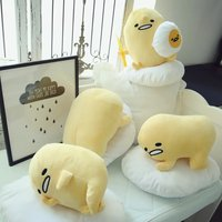 Japanese Slat Lazy Egg Yolk Baby Doll Gudetama Pillow Stuffed Toy For Children Pelucia Zhdun Kumamon Jouet Kakao Friend XTY288
