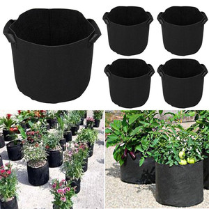 Image 1 - 5PCS Plant Grow Bags Fabric Pots with Washable and reusable Hydroponic Grow Pots plant bag protection vegetable bag Non woven