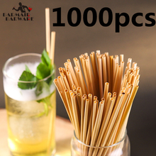 1000pcs 20cm Wheat Straw 100% Natural Biodegradable Straws Environmentally Friendly Portable Drinking ECO
