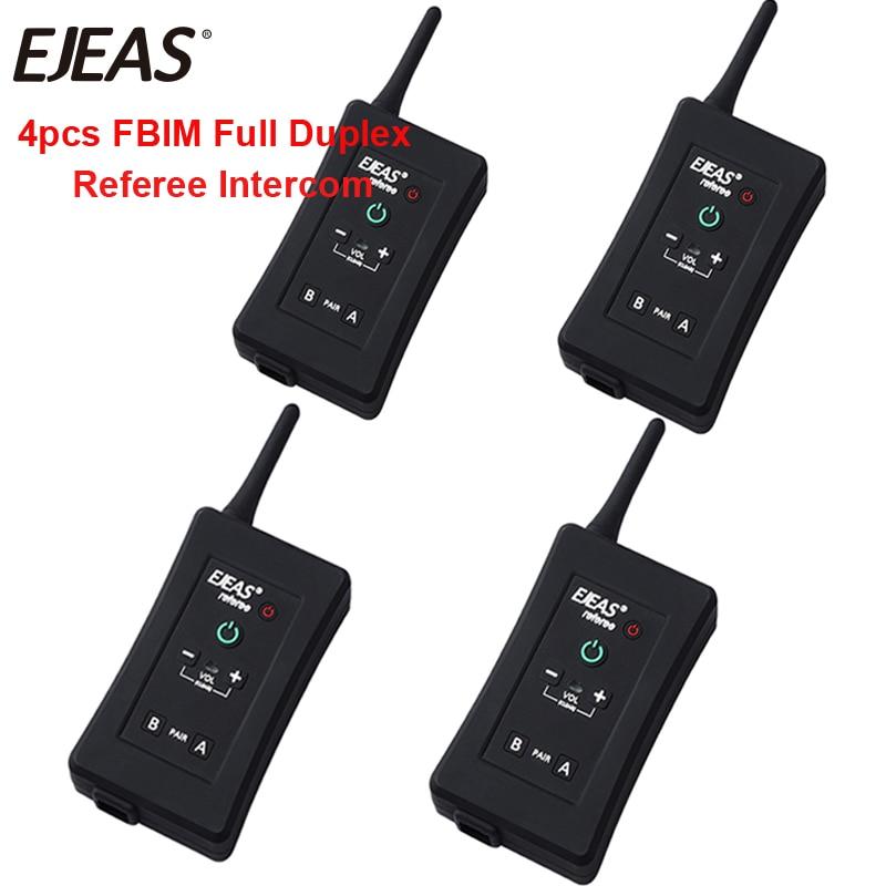 EJEAS Football-Referee-Intercom Headset Interphone Bluetooth Motorcycle-Bt FBIM 4-Riders