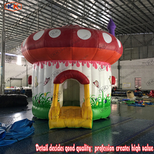 Inflatable PVC mushroom bouncer for child Jump Castle