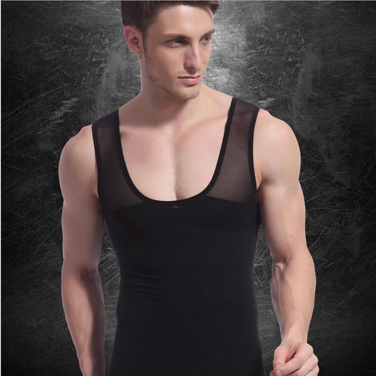 Male  Slimming Abdomen Body Shaper Sculpting Compression Girdle Belley vest