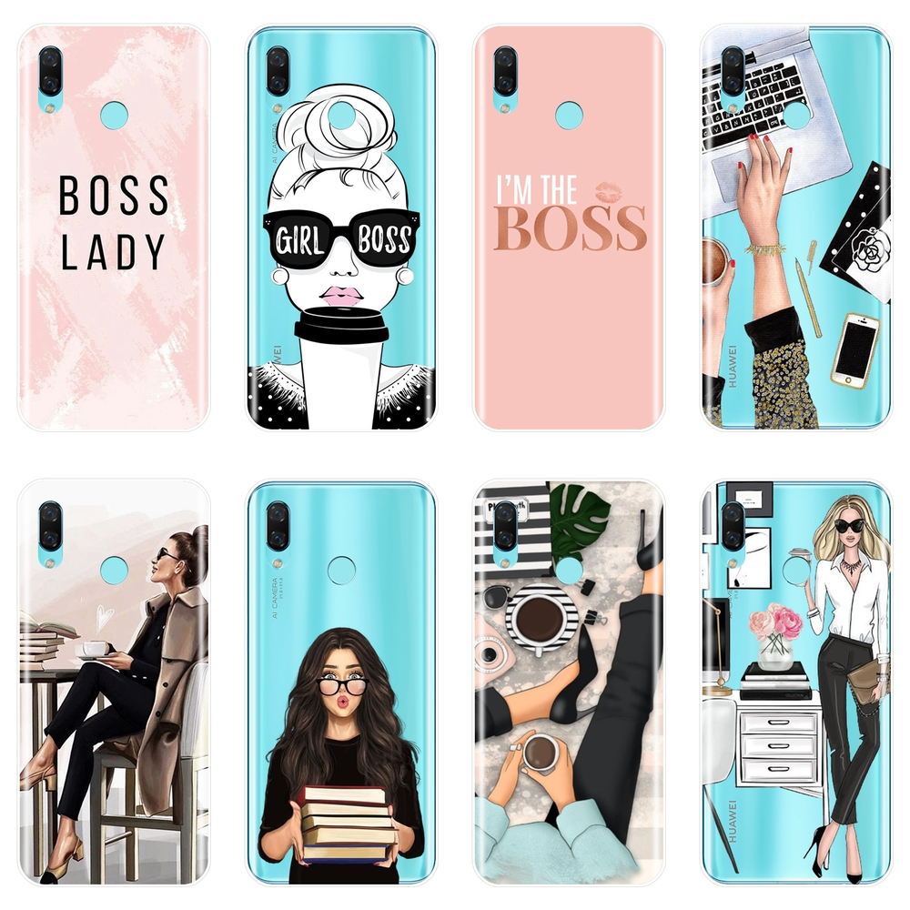 Girl Boss Pink Women Phone Case For Huawei Nova Smart Lite 2017 Soft Silicone Back Cover For Huawei Nova 2i 2 Lite Plus 3 3I 3E