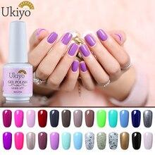 Укие 8 мл УФ гель Лаки для ногтей Топ База GelPolish гибрид ногтей Лаки одноцветное Цвета Lucky Гель-лак полупостоянных гибридный Лаки