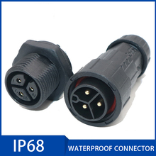 Waterproof Connector 2 3 4 5 6 7 8 9 pin IP68 10.5mm 20A Electrical Sealed Retardant Cable Connector for Outdoor LED Light