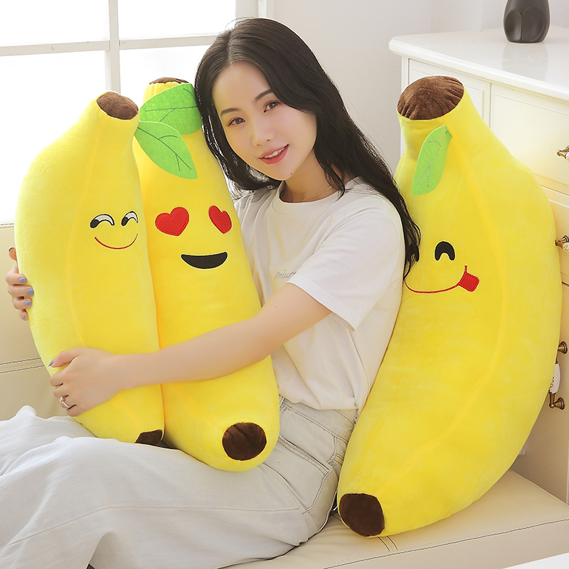 40-80CM Funny Creative Banana Stuffed Soft Pillow Sofa Cushion Baby Lovely Plush Doll Kids Fruit Toys Children Birthday Gifts