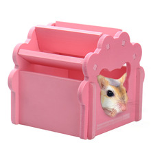 3 Colors Wooden Pet Hamsters Cat House Wood Hamster Sleep Cage Pets Small Animal Rabbit Mouse Cat Nest Toy
