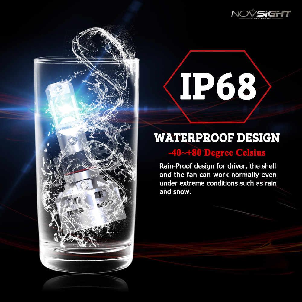 Novsight H7 Fog Light Bulb H4 LED H11 9005 9006 CSP Chips 60W 10000LM 6500K Car Led Auto Headlamp Headlights Fog Light 12v 24v