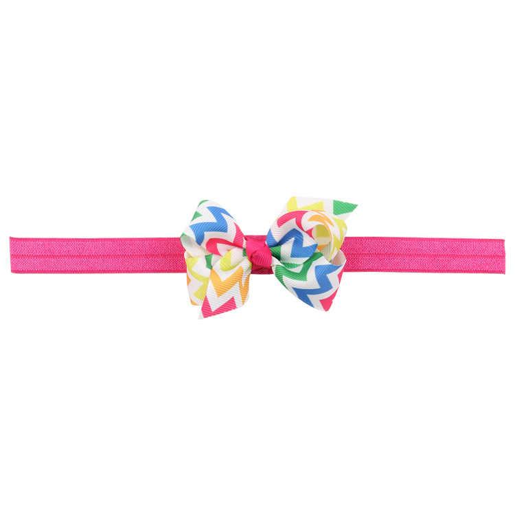 เด็กทารกเด็กทารกอุปกรณ์เสริมผมผ้าแถบ bows ลายแรกเกิด Headwear tiara ของขวัญเด็กวัยหัดเดินผ้าพันคอริบบิ้น headwrap