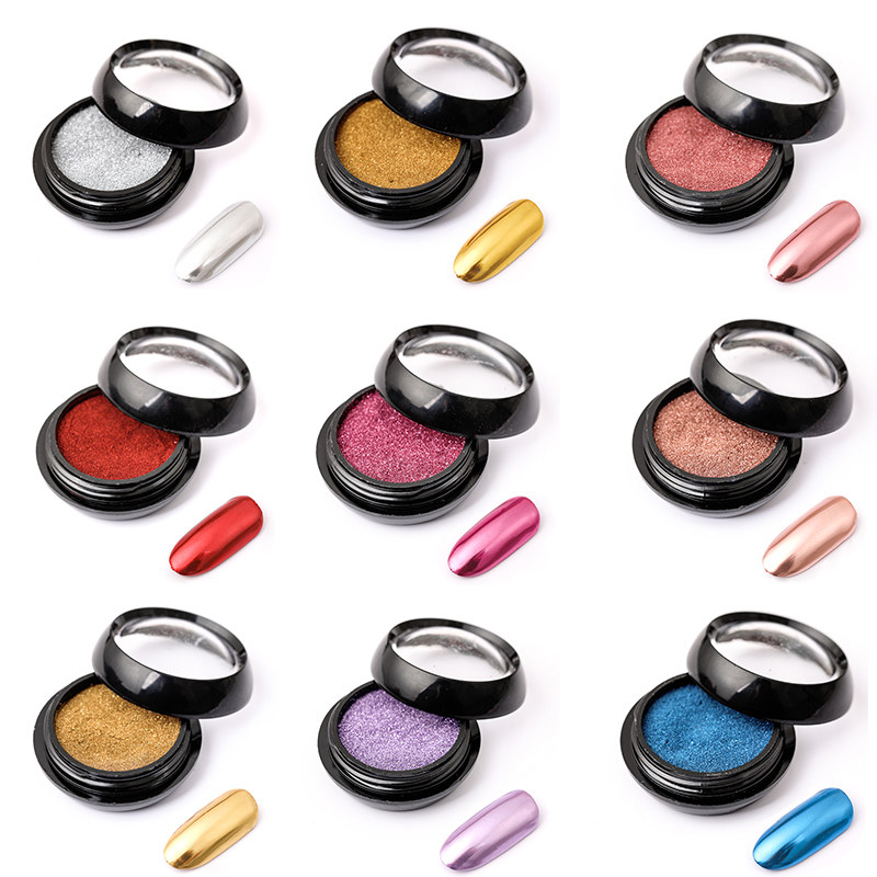 1 box Mirror Powder Metallic Effect Chrome Pigment
