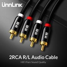 Unnlink HIFI 2RCA 2 RCA RCA kablosu OFC AV ses kablosu 1m 2m 3m 5m 8m 10m TV DVD amplifikatör Subwoofer Soundbar hoparlör tel