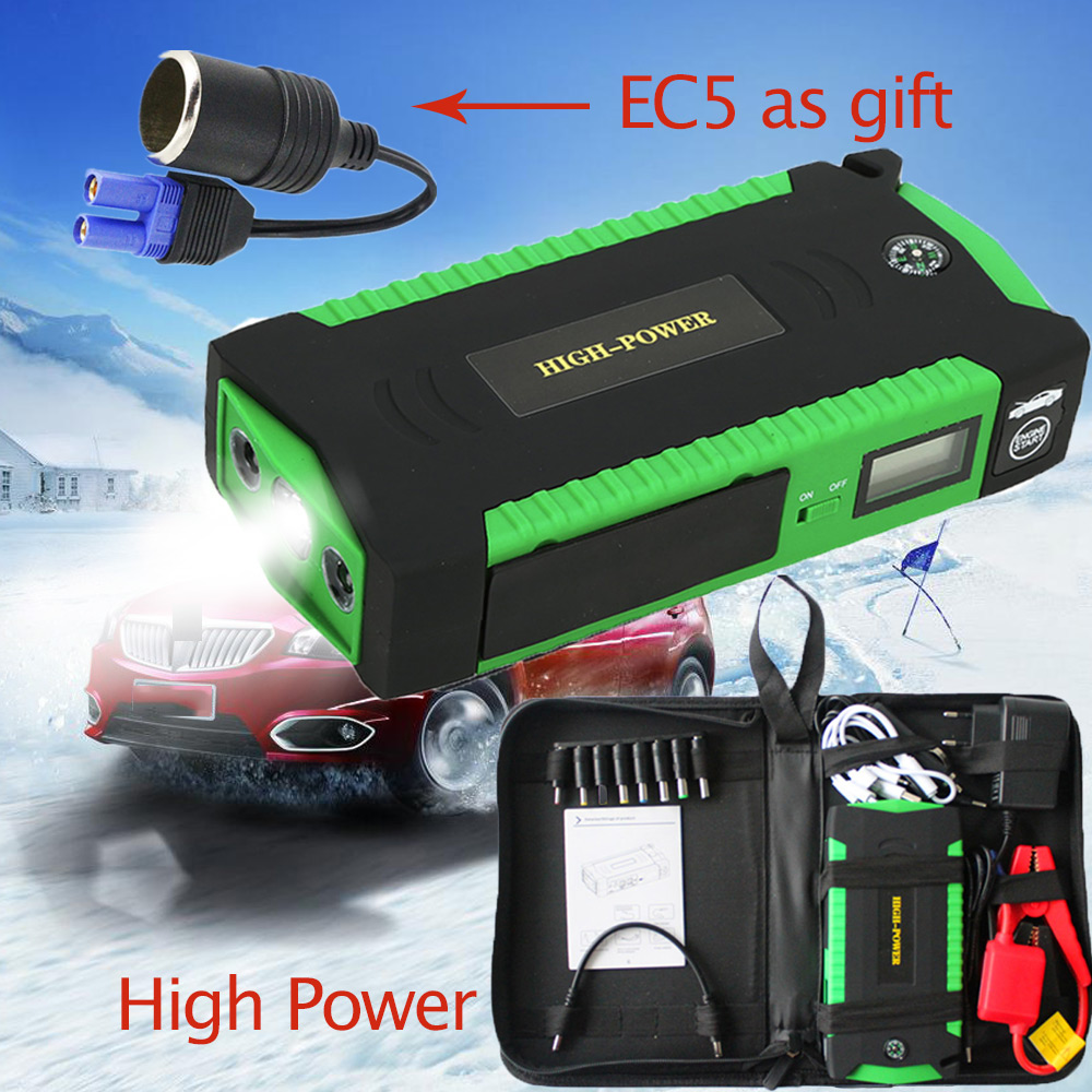 16000mah Portable Jump Starter Booster 12V Emergency Car Battery Multifunction Auto Engine Four Usb Power Bank Starting Device car jump starter power bank supply 12v 600a auto booster multifunctional emergency ignition for auto travel starting device