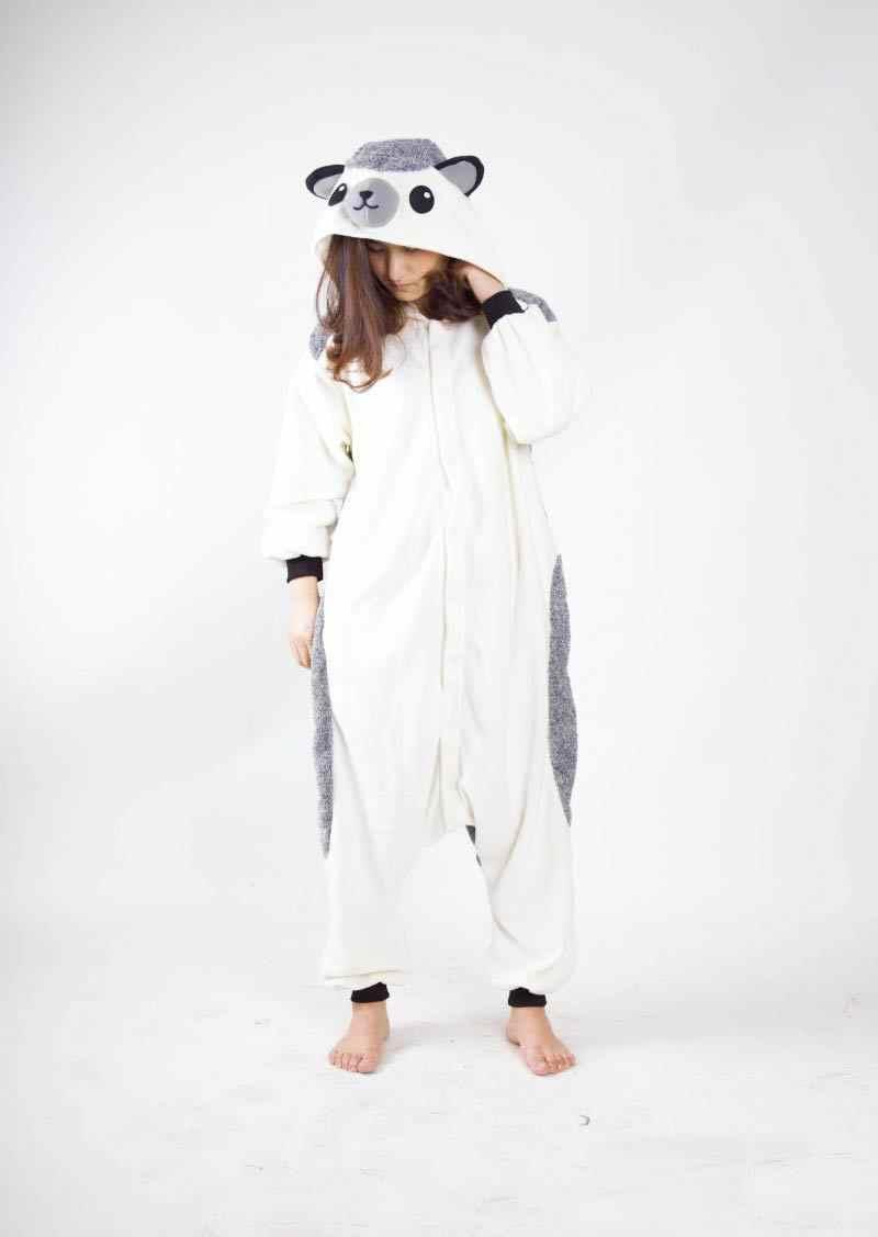 Кигуруми животных Пижама Ежик Свободный комбинезон унисекс спальный костюм  для взрослых пижамы костюмы для косплея Onesie 569399e3570f0
