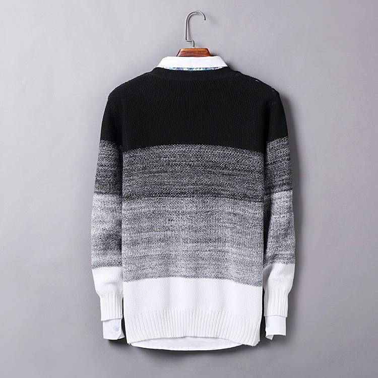 High Quality Mens Sweater New 2015 Autumn Winter Patchwork Cashmere Wool Cardigan Men Sweater Brand Casual V-Neck Mens Clothing (4)