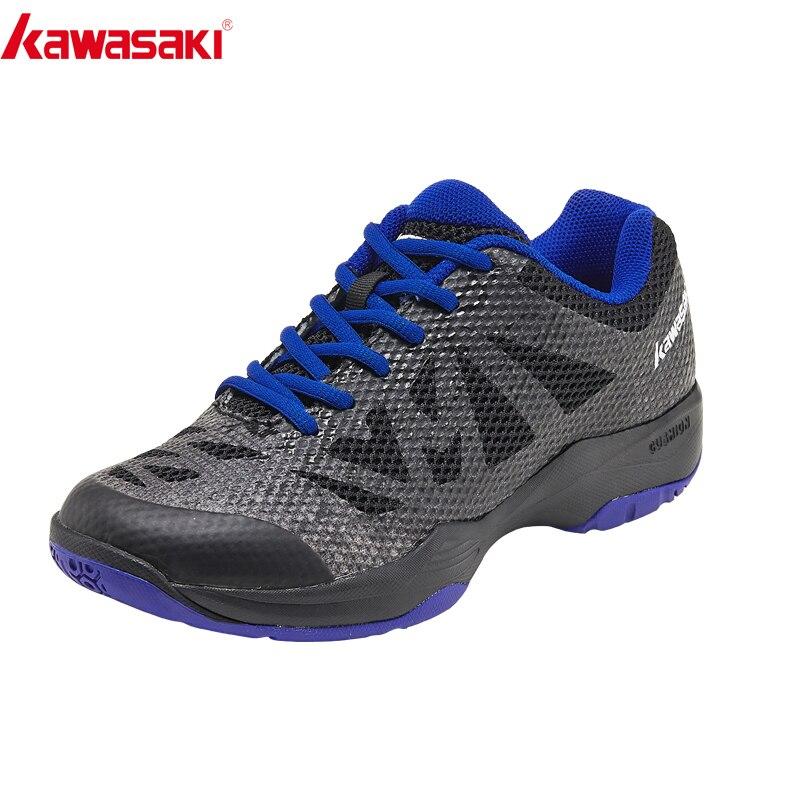 Kawasaki Badminton Shoes Super light Men Zapatillas Deportivas Wear resistant Breathable Sneakers Lightweight Sport Shoes K