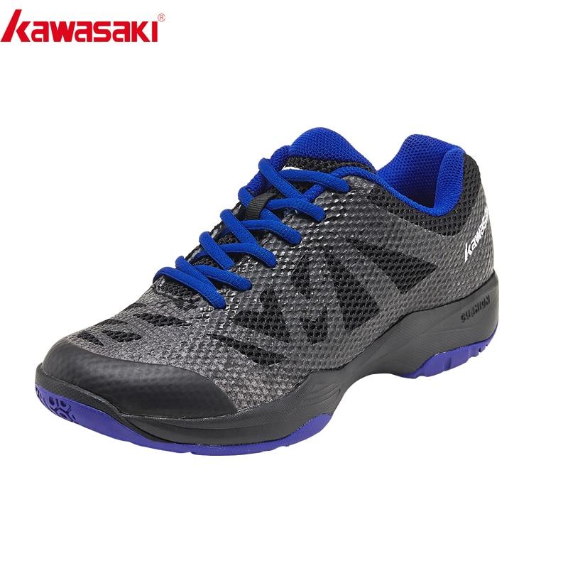 Kawasaki Badminton Shoes Super Light Men Zapatillas Deportivas Wear-resistant Breathable Sneakers Lightweight Sport Shoes K-357D