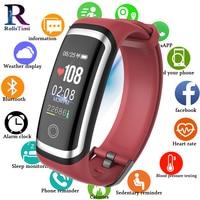 RollsTimi Smart Bracelet Fitness LED Screen Sleep Tracker Blood Pressure Monitor Women Smart Wristwatch Waterproof IOS Android