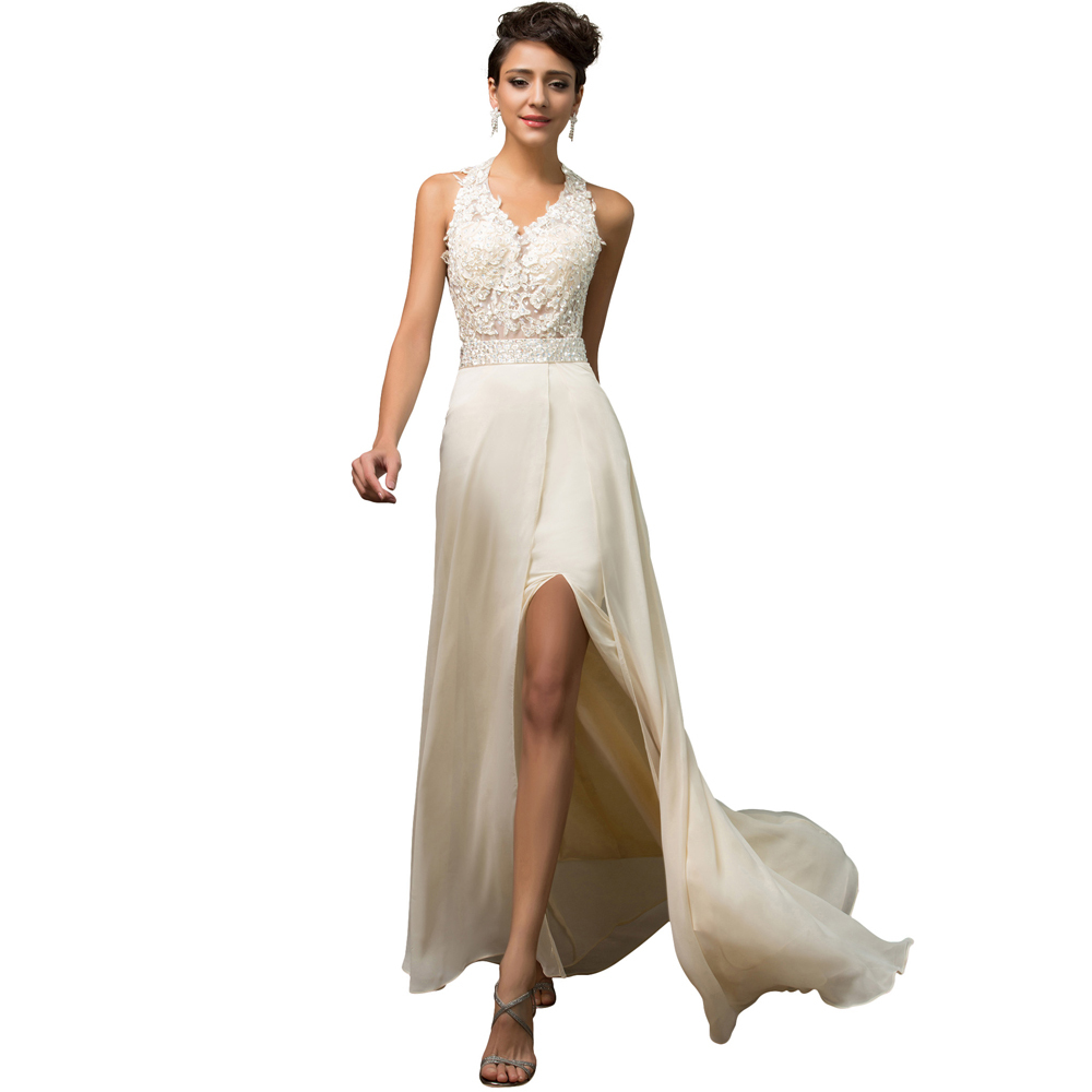 Princess style halter backless imported fishtail high split korean princess style halter backless imported fishtail high split korean wedding dresses summer 2017 sexy embroidery brides gown 7583 in underwear from mother ombrellifo Image collections