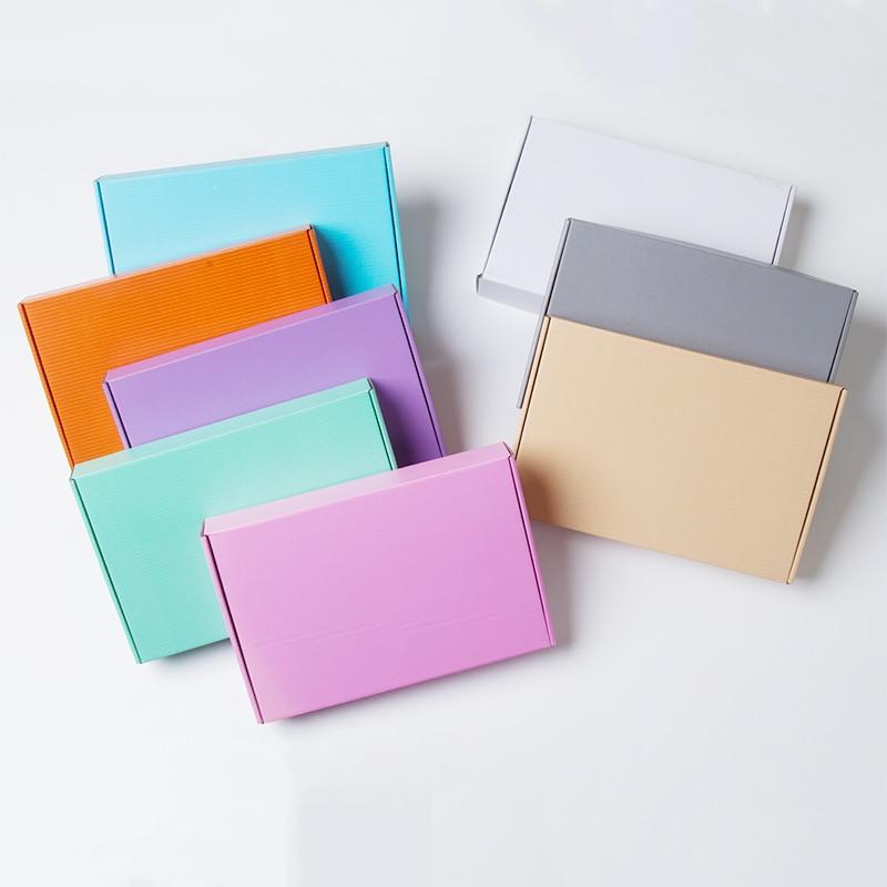 10pcs/lot E Corrugated Paper Box Aircraft Carton Gift Packing Box T-shirt Package Hard T2 Box Free Shipping