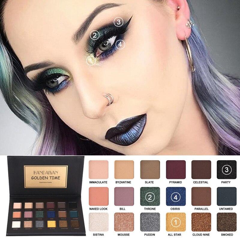 handaiyan shimmer matte eyeshadow makeup palette long. Black Bedroom Furniture Sets. Home Design Ideas