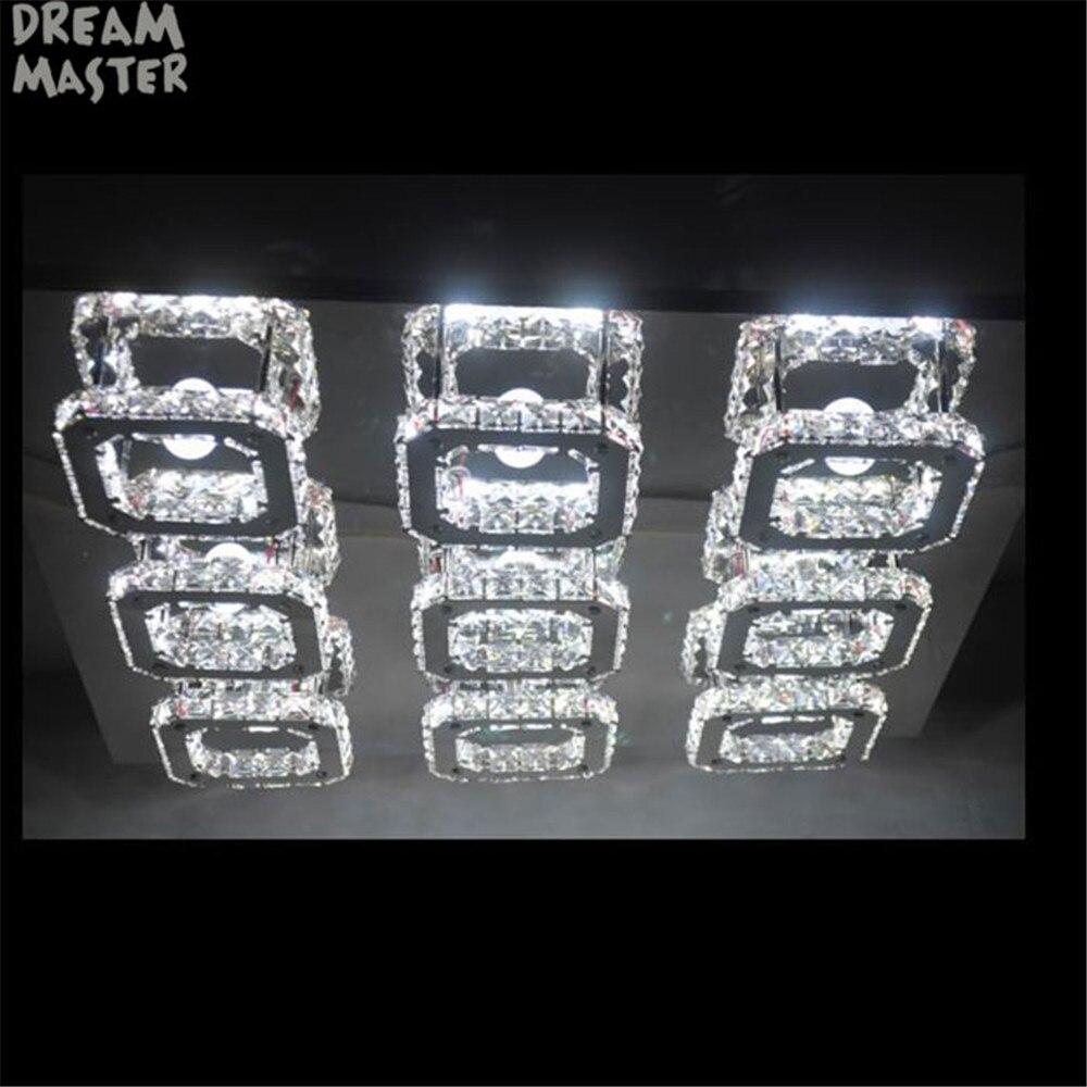 Image 5 - Luxury Large Modern LED Ceiling chandelier Light K9 Crystal square leds chandeliers Art Luminaire Luster living room lighting-in Chandeliers from Lights & Lighting