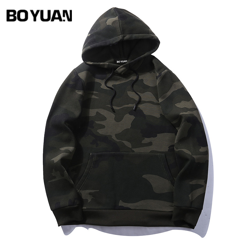 BOYUAN Brand Hoodies Sweatshirts Men Camo. Casual Hooded Pullovers Mens Hoodies Hoodie 2017 Autumn New Coat EU size 2XL HTW03