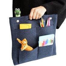 Felt cloth Make up Storage bag,Felt Insert Purse Organizer,Multi Pocket Cosmetic Bags in Bag Organizer For Tote & Handbag Shaper