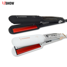 Ceramic Steam Flat Iron Professional Steampod Hair Straighte