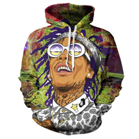 2018 Men/Women Hoodie Wiz Khalifa 3D Printed Hoodies Harajuku Unisex Hoodies Sweatshirts S 5XL