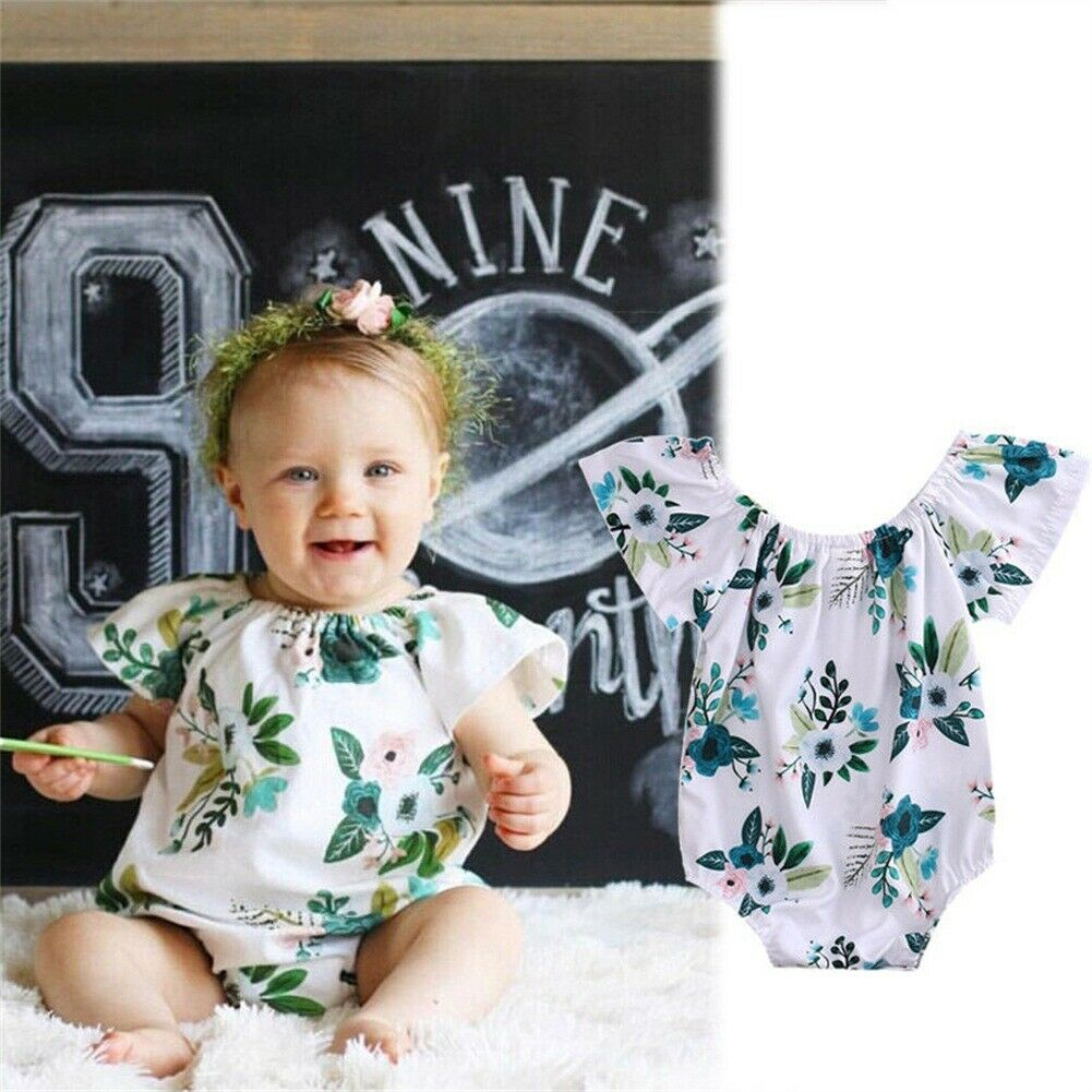 100% Wahr 0-24 M Nette Neugeborene Baby Mädchen Kurzarm Floral Body Overall Overall Outfits Sommer Sunsuit Kleidung