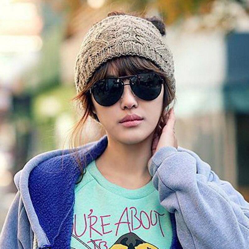 NIBESSER Fashion Snowboard Warm Knitted Cap Snap Skullies Bonnet Beanie No Top Wool Hat Women Multi-purpose Hat 14