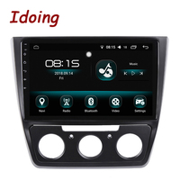 Idoing 10.2 1Din 2.5D IPS 4G+64G Octa CoreCar Android 8.0 Radio Multimedia Player Fit Skoda Yeti 2014 2017 GPS Navigation Wifi