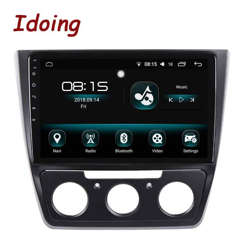 Je fais 10.2 1Din 2.5D IPS 4G + 64G Octa CoreCar Android 8.0 Radio lecteur Multimédia Fit Skoda Yeti 2014-2017 navigation gps Wifi
